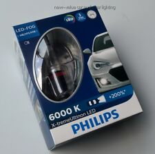 PHILIPS H8 H11 H16 6000K LED Fog Lamp Xtreme Vision Bright White 12834UNIX2