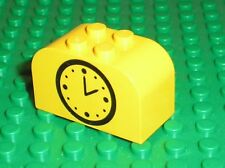 LEGO Brick 2 x 4 x 2 with Curved Top with Clock 4744px30 / Gare Train Station...