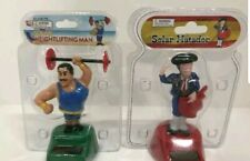Muscle Man & Spanish MATADOR Solar Powered Dancing Toy Collectibles Set Of 2
