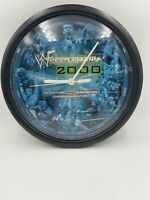 Wrestlemania 2000 Wall Clock 10 Inch Diameter Vintage RARE Snickers Wwe Wwf