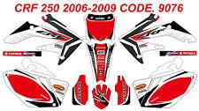 9076 HONDA CRF 250 2008 2009 Autocollants Déco Graphics Stickers Decals Kit
