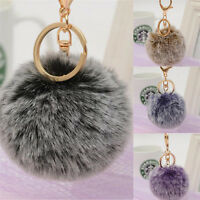 Women Bag Key Chains Pom Poms Ball Keychain Keyring Bag Charm Pendant  J7P ueN_N