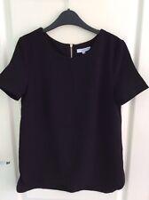 Ladies New Look Black short sleeve top size 6