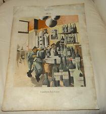 Affichette propagande WW2 Petain Laval résistance la liquidatiion de la France