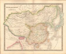 1843 ANTIQUE MAP- DOWER - CHINA AND JAPAN