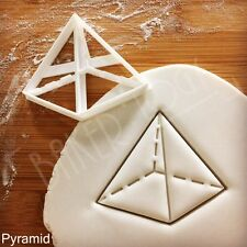 Pyramid cookie cutter | mathematics geometry shape geometric lesson kids fun 3D