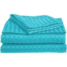 4-pc Queen Teal Superior 1500 Series Striped Brushed Microfiber Sheet Set