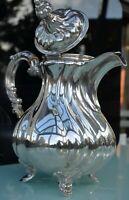 RAR Kanne Kaffe Teekanne Silber 800 Villingen Villingen 752 gr