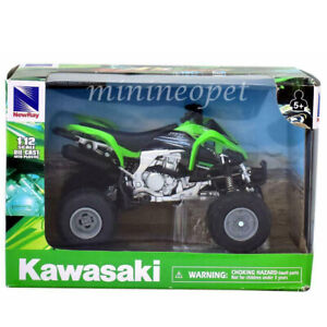 NEW RAY 57503 KAWASAKI KFX 450R ATV MOTORCYCLE 1/12 GREEN
