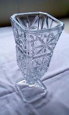 Beautiful Vintage Cut Glass Heavy Vase