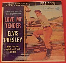 ELVIS PRESLEY Love Me Tender 1956 EP RCA Victor EPA 4006 w Sleeve 1S/1S
