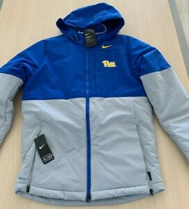 Nike Men's Pitt Panthers Winter Jacket Coat Hooded On Field Apparel New M $200