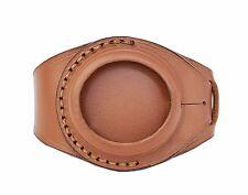 Strap Pocket Watch Molnija Molniya Molnia Brown Leather Watch Wrist Band 45 mm