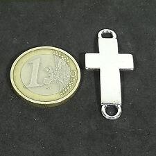 20 Cruces Para Pulsera 36x16mm T254F Plata Tibetano Bracelet Argento Croce