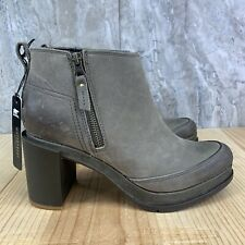 Sorel Blake Bootie Size 8.5 Womens Light Gray Block Heel