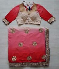 Indian Bollywood Ethnic Traditional Asain Saree Sari Wedding Party Wear Blouse B