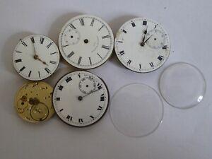 Job Lot of Gent's Antique Mechanical Pocket Watch Movements - American Waltham