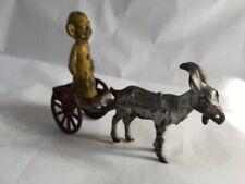 Kenton Cast Iron Yellow Kid in Goat Cart