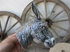 Vintage Palissy Majolica Portuguese Caldas da Rainha Wall Head Donkey Mule