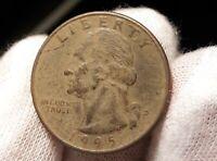 Error 1995-D Washington Quarter Die Missing Clad Layer Error