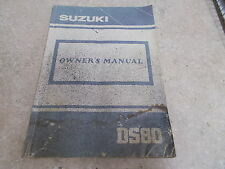 NOS OEM Suzuki Owners Manual 1989 DS80 32 pages 99011-03427-03A