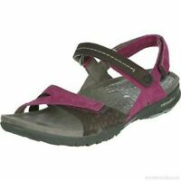 LADIES MERRELL ALBANY WRAP BEET RED LEATHER WALKING HIKING TRAIL SANDALS SIZE 3