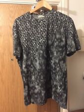 BALENCIAGA Lead Grey Printed T-Shirt Size Medium/ 48