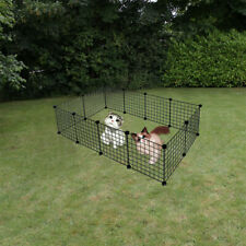 New listing Metal Pet Playpen Dog Kennel Pets Fence Exercise Cage 12 Panels Us Stock