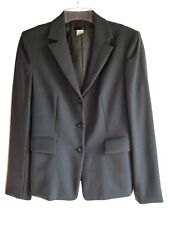 J Crew Womens 6 Charcoal Grey Wool Blazer Lined