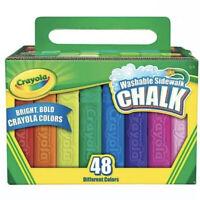 Crayola Washable Sidewalk Chalk 48 Pieces All Different Colors - BRANDNEW