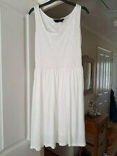 Gorgeous Dorothy Perkins Cream Fit & Flare Dress, Sleeveless, Size 10, VGC