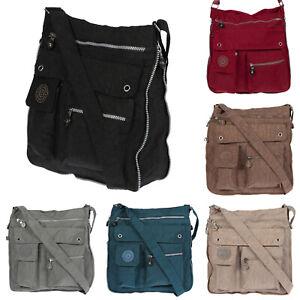 XL Large Nylon umhängetasche schultertasche Bag Women's Bag Black Braun Uni