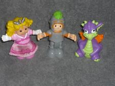 Fisher Price Little People Castle Poseable Lot: Princess, Dragon, Knight