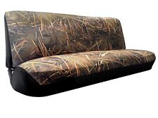 Muddy Water Camo Bench Seat Cover 2pc Split Top Bottom Camouflage For F-Series
