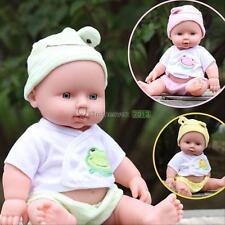 Reborn Baby Doll Toys Soft Vinyl Silicone Lifelike Newborn Baby Kids Fun Toy HOT