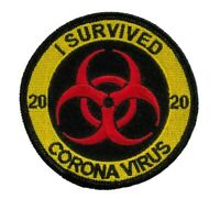 TP06  I SURVIVED BIOHAZARD CRISIS 2020 EMBROIDERED PATCH IRON ON - TOILET PAPER