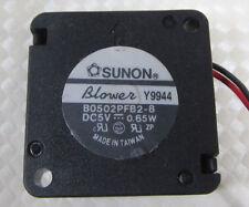 SUNON Mini DC Blower Fan B0502PFB2-8 25x25x10mm 2510 5V 0.65W 2pin Connector