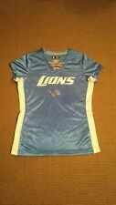 Detroit Lions Football Ladies Blue Jersey-Womens M-NFL Team Apparel