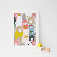 Cute Animal Print / Picture for Nursery / Childs Kids Children's Bedroom