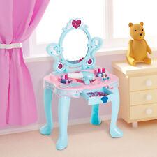 Kids Pretend Play Vanity Table Dressing Makeup Accessories Beauty Set w/ Mirror