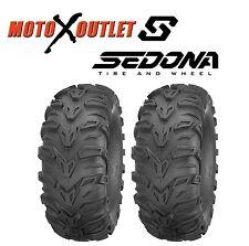 "Set of 2 25x11-10 Sedona Mud Rebel 25"" ATV Tires 6 Ply 25-11-10"