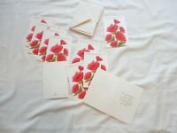 Lot of 10 Vintage 1960's Thank You Greeting Cards Hallmark Un-used