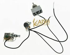 Quality Prewired Wiring Harness 1V1T Push Pull  500K Pots 3 Way Toggle Switch