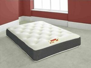 "Black 12"" Extra Deep Double Sided Memory Foam Mattress - Luxury Tufted Damask"