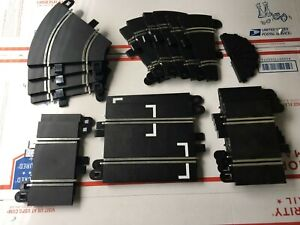 Scalextric track assortment, straight and R1 various lengths and degrees