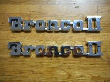 NEW 1984 1988 FORD BRONCO II FRONT FENDER EMBLEMS CHROME  PAIR