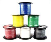 16 GA Gauge 100' FT Remote Wire Copper Clad Single Conductor 6 Primary Colors