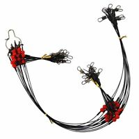24pcs/set Fishing Wire Rigs Guff Rigs Strong Black Wire Leaders Rigs 2RD & 1RD