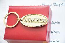 24K Gold Plated Hummer H1 H2 H3 Limo Metal Keyring Car Key Chain Car Ring Fob