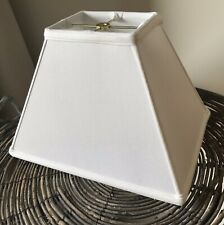 Replacement Rectangle Lamp Shade (4 X 5) (9 X 12) x 9� White Linen.